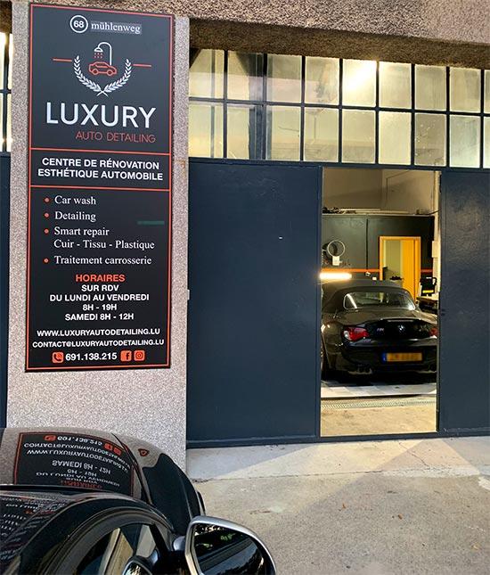 Luxury Auto Detailing vue extérieure de nos ateliers